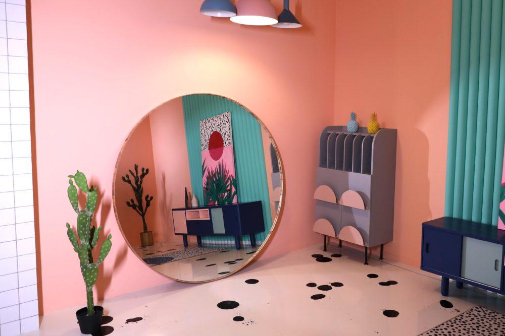 круглое большое напольное зеркало