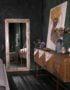 напольное зеркало в раме из массива