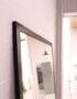 зеркало в металлической раме большое черное