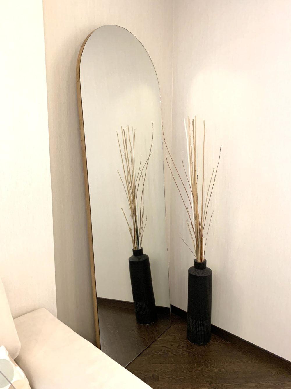 Арочное напольное зеркало дуб