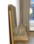 Напольное зеркало со скругленными углами из дуба
