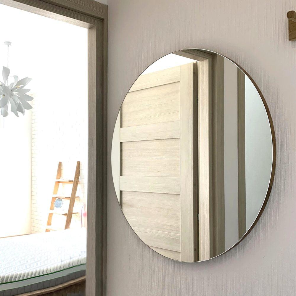 круглое настенное зеркало