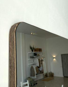 зеркало на подложке из сосны скругленные углы
