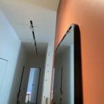 настенное зеркало скругленные углы черная подложка